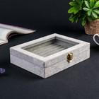 """Velvet box for cufflinks """"Grey mist"""" 5х20х15 cm"""