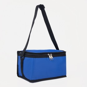 Bag-termo road, division zipper, adjustable strap, color blue