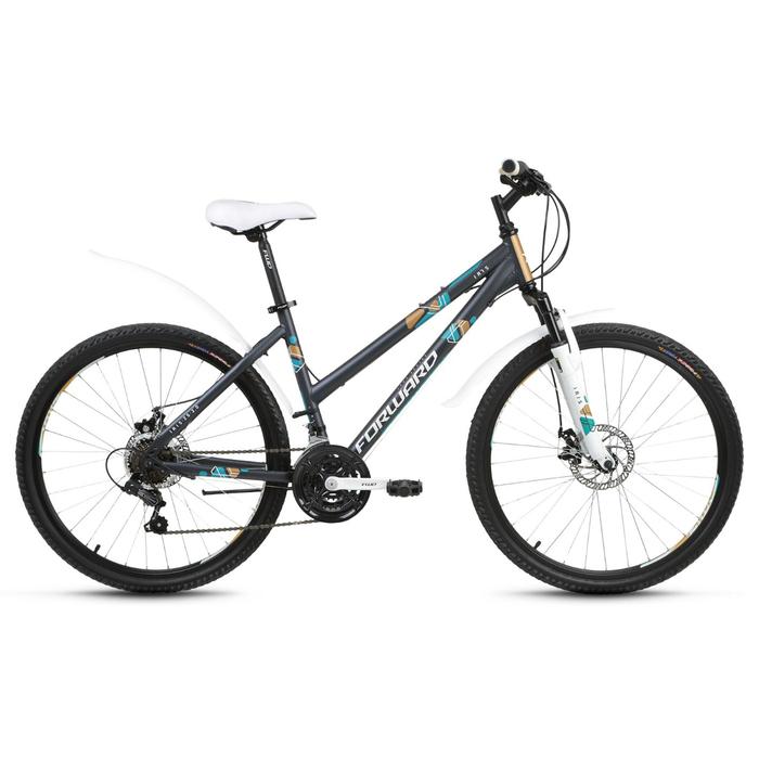 """Велосипед 26"""" Forward Iris 2.0 disc, 2018, цвет серый мат., размер 17"""""""
