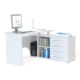 Компьютерный стол, 1400 × 1270 × 750 мм, правый, цвет белый