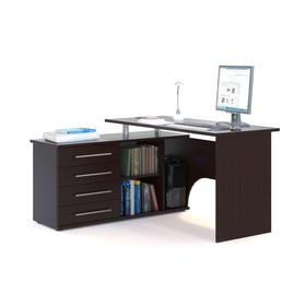 Компьютерный стол, 1400 × 1270 × 750 мм, левый, цвет венге