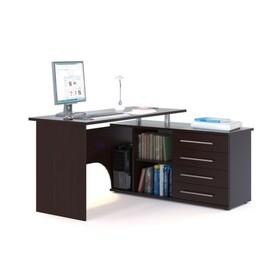 Компьютерный стол, 1400 × 1270 × 750 мм, правый, цвет венге