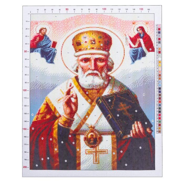 Канва для вышивания с рисунком «Святитель Николай», 47 х 39 см