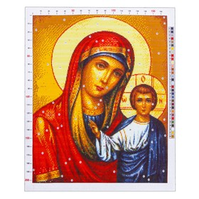 "Outline embroidery pattern ""Kazanskaya mother of God"", 47 x 39 cm"
