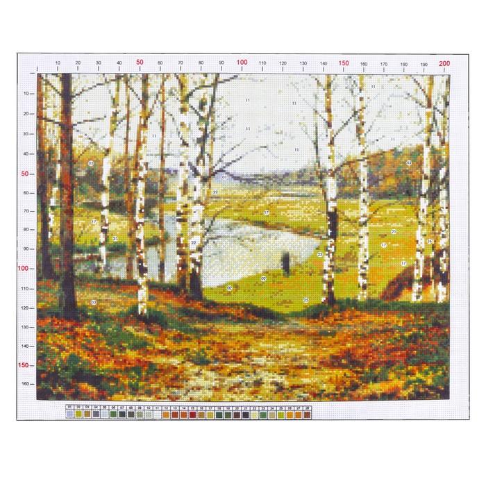 Канва для вышивания с рисунком «Волков Ефим. Октябрь», 47 х 39 см