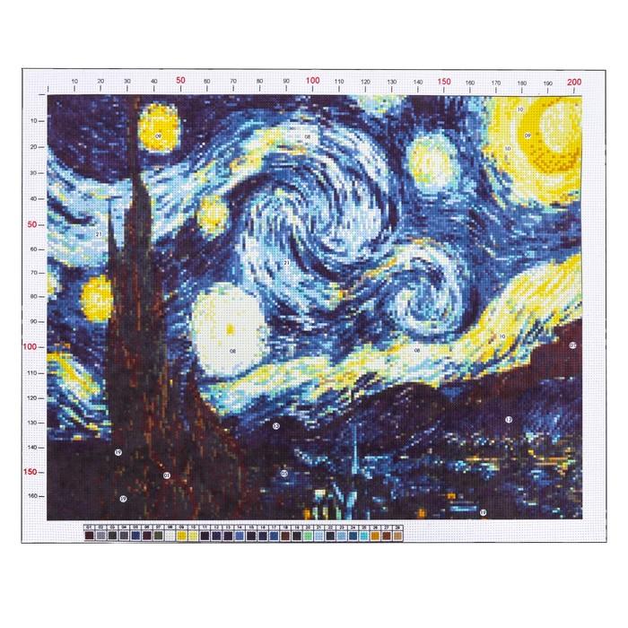 Канва для вышивания с рисунком «Ван Гог. Звездная ночь», 47 х 39 см