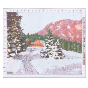 "Outline embroidery pattern ""Bessonov. Winter landscape"", 47 x 39 cm"