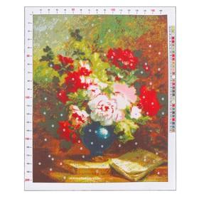 Канва для вышивания с рисунком «Эмиль Генри Брюннер. Пионы», 47 х 39 см Ош