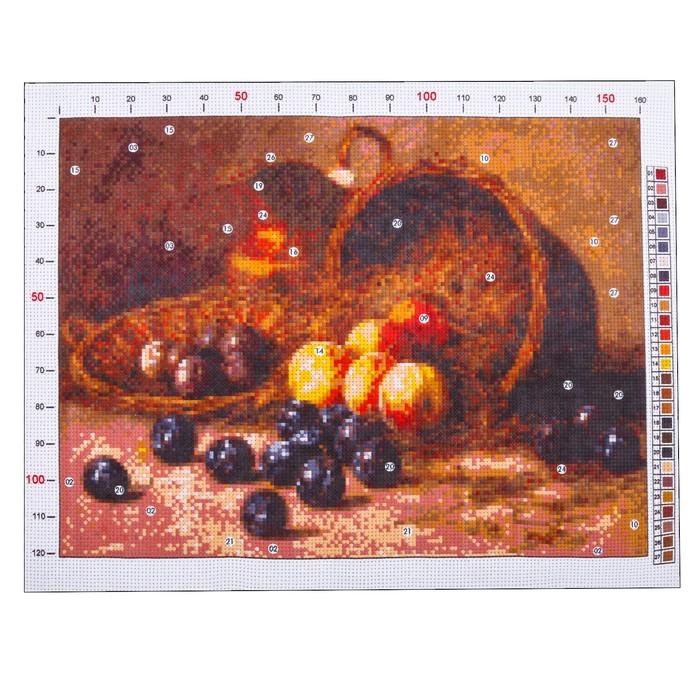 Канва для вышивания с рисунком «Гирв Альфред Александрович. Персики и сливы», 28 х 37 см