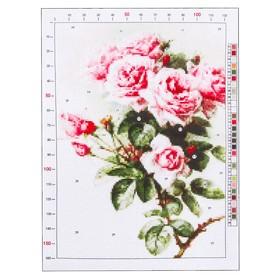 Канва для вышивания с рисунком «Рауль дэ Лонгпрэ. Розы», 28 х 37 см Ош