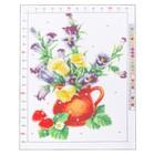 Канва для вышивания с рисунком «Букет лета», 28 х 37 см - фото 692599