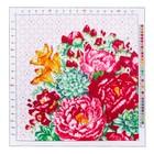 Канва для вышивания с рисунком «Цветы», 41 х 41 см - фото 692623