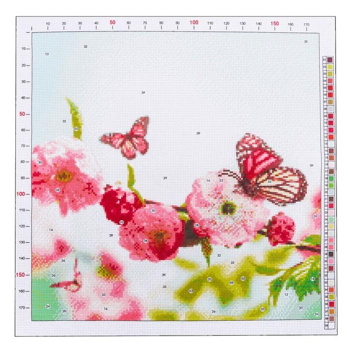 Канва для вышивания с рисунком «Весенний сад», 41 х 41 см - фото 692632