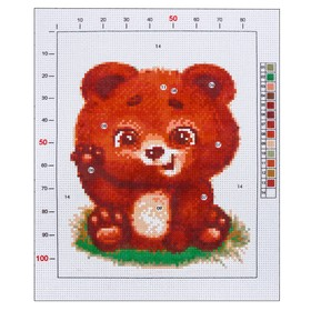 "Outline embroidery pattern ""bear"", 20 x 25 cm"