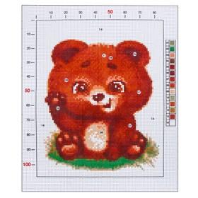Канва для вышивания с рисунком «Мишутка», 20 х 25 см Ош