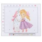 Канва для вышивания с рисунком «Принцесса с единорогом», 20 х 25 см