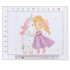 Канва для вышивания с рисунком «Принцесса с единорогом», 20 х 25 см Ош