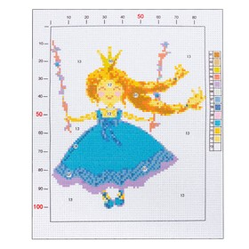 """Outline embroidery pattern """"Princess"""", 20 x 25 cm"""