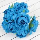 """Букет """"Объёмный цветок"""" 7 цветков, синий"""