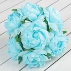 """Букет """"Объёмный цветок"""" 7 цветков, голубой"""