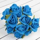 """Букет """"Роза"""" 13 цветков, синий"""
