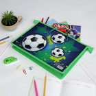 """Папка пластиковая с ручками """"Футбол"""", А4, 33,5 x 23,5 х 5,5 см"""