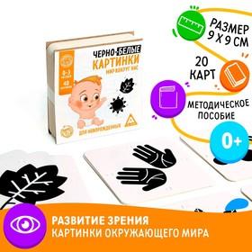 Развивающая игра для новорожденых «Черно-белые картинки. Мир вокруг нас», 40 картинок