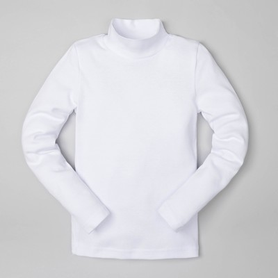 Водолазка, бел, р-р 36 (134-140см) 9-10 л., 100% хлопок