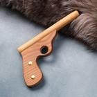 """Сувенирное деревянное оружие """"Пистолет полицейский"""", 25 см, массив бука - фото 105640829"""
