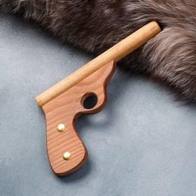 """Сувенир деревянный """"Пистолет полицейский"""", 25 см, массив бука"""