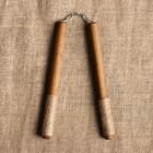 """Сувенир деревянный """"Нунчаки"""", темные, массив бука, 25 см"""