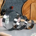 """Набор форм для выпечки и выкладки """"Круг"""", D-20, H-5 см, 3 шт - фото 308023047"""