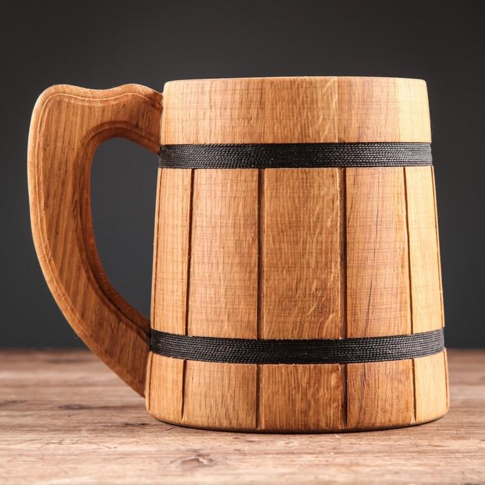 """Кружка для пива деревянная """"Лагер"""", 0,5 л"""