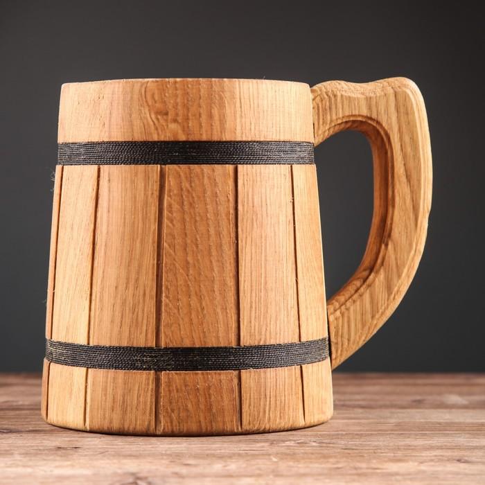 """Кружка для пива деревянная """"Лагер"""", 0,8 л"""