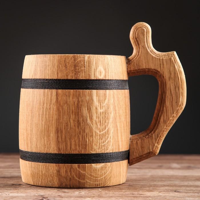 """Кружка пивная деревянная """"Октоберфест"""", 0,3 л, 1 сорт"""