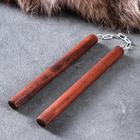 """Сувенир деревянный """"Нунчаки"""", темные, массив бука, 20 см"""