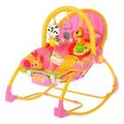 Баунсер-качалка детский «Джунгли», цвет розовый