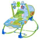 Баунсер-качалка детский «Слоник на рыбалке», цвет голубой