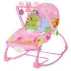 Баунсер-качалка детский «Слоник на рыбалке», цвет розовый