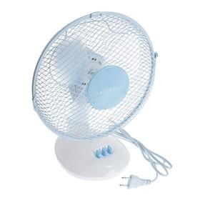 Вентилятор FIRST FA-5550-BU, настольный, 25 Вт, 23 см, 2 скорости, голубой