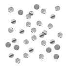 """Наполнитель для шара """"Конфетти круг"""" 4 см, фольга, цвет серебро, 500г"""