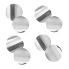 """Наполнитель для шара """"Конфетти круг"""" 3 см, фольга, цвет серебро, 500г"""