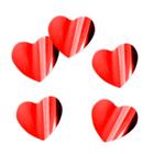 """Наполнитель для шара """"Конфетти сердца"""" 3 см, фольга, цвет красный, 500г"""