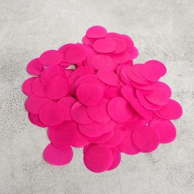 """Наполнитель для шара """"Конфетти круги"""" 3 см, бумага, цвет фуксия, 500г"""