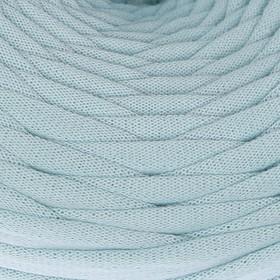 Пряжа трикотажная широкая 50м/170гр, ширина нити 7-9 мм (бл. голубой) МИКС