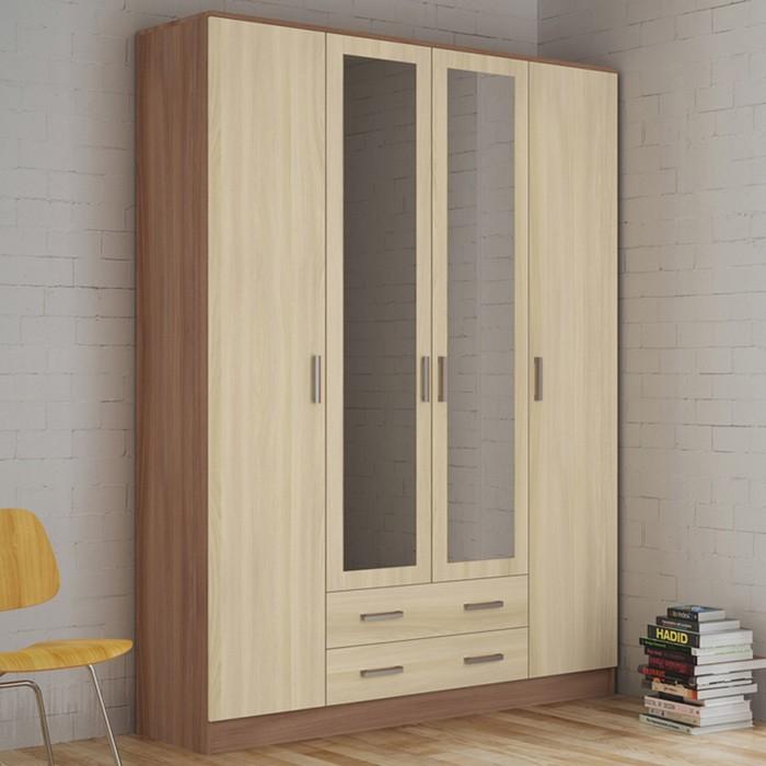 Шкаф 4-х дверный Квадро 1600х482х2200 Ясень шимо