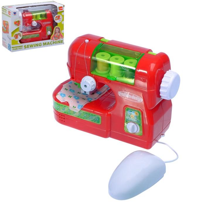 Швейная машина, световые и звуковые эффекты, работает от батареек