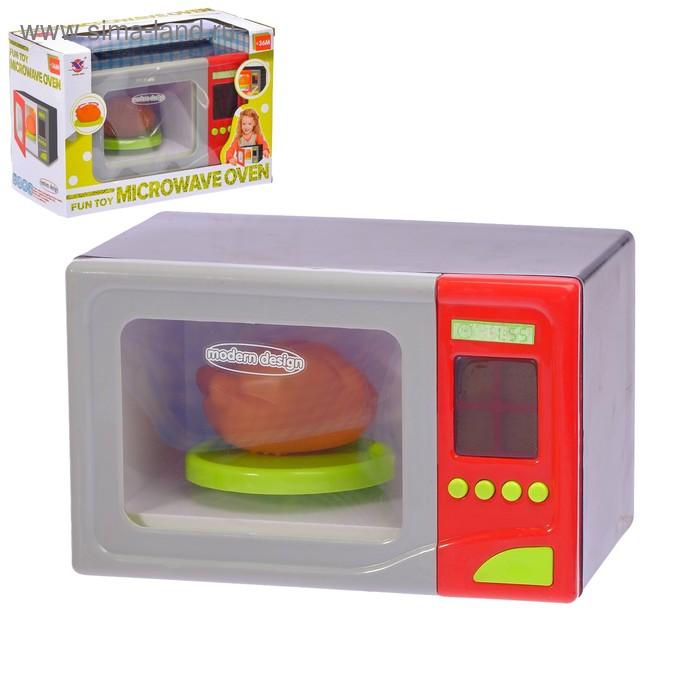 Микроволновая печь, вращается и открывается дверь, световые и звуковые эффекты, работает от батареек