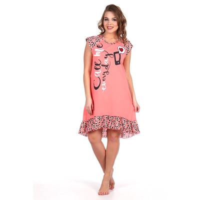 Сорочка женская 266 цвет коралловый, р-р 52