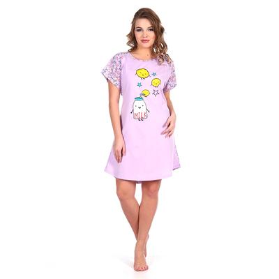 Сорочка женская 268 цвет сиреневый, р-р 48